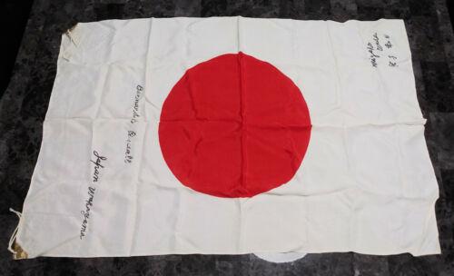 Vintage Japanese WWII Flag Signed Veteran Bring Back