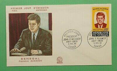 DR WHO 1964 SENEGAL FDC JFK JOHN F KENNEDY  C241260