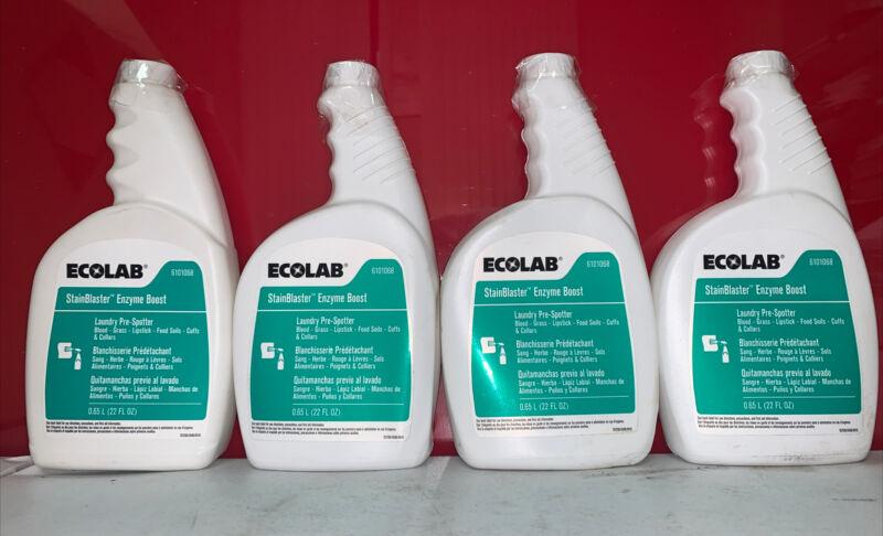 CASE 4 ECOLAB STAINBLASTER Enzyme Boost 22 FL OZ .65 Liter EA Food Soil 6101068