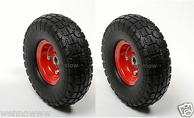 2pc Hand Truck Dolly Replacement 10 Flat Free Tire W 58 Bearing Filled Wfoam