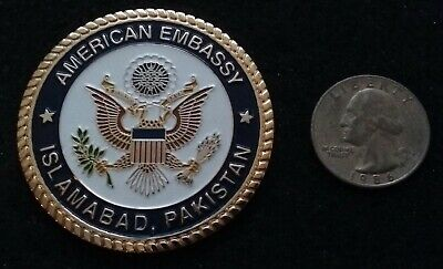 VERY RARE American Embassy Islamabad Pakistan US State Department Challenge Coin