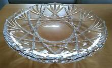 Large Mikasa Clear Crystal glass Fruit tray/cake plate Gold Trim Mount Waverley Monash Area Preview
