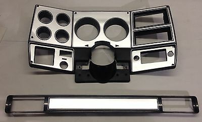 73-80 chevy GMC NEW pickup truck dash bezel gauge cluster cover brushed aluminum