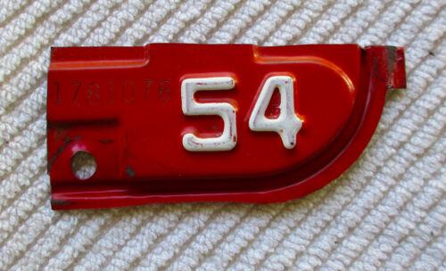1954 California License Plate Year Tab