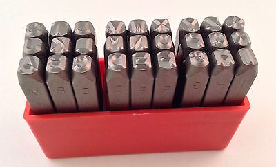 27pc 14 6mm Letter Stamp Punch Set Hardened Steel Metal Wood Leather