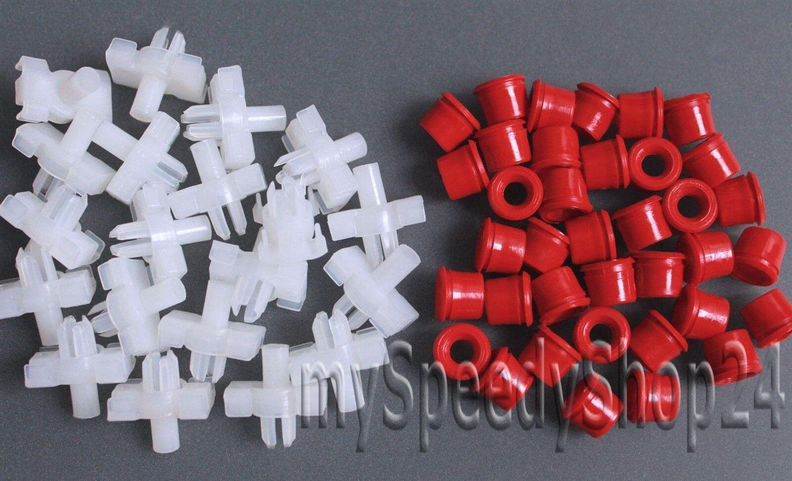 30 piezas paréntesis clips beplankung para mercedes Sacco 190 w201 w124 a124 s124