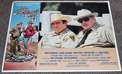 SMOKEY AND THE BANDIT 11x14 JACKIE GLEASON/MIKE HENRY original lobby card poster
