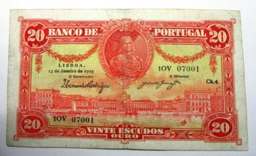 20 Escudos 1925  RARE