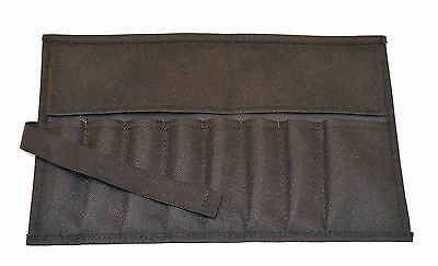 Canvas Roll Up Tool Pouch 8 Pockets Black for Tool Sets And Crafts - Canvas Crafts
