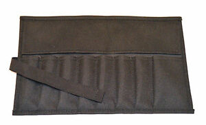 Canvas Roll Up Tool Pouch 8 Pockets Black for Tool Sets