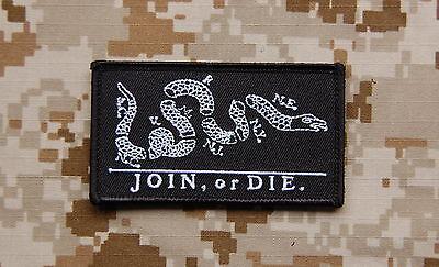 JOIN or DIE Patch Black NSWDG SEAL DEVGRU ST6 US Navy Special Warfare VELCRO®
