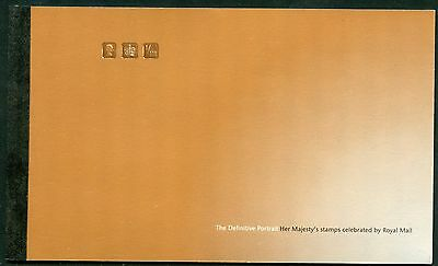 GREAT BRITAIN COMPLETE PRESTIGE BOOKLET THE DEFINITVE PORTRAIT MINT NH AS ISSUED