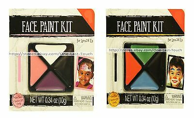 MGS GROUP* Non-Toxic FACE PAINT KIT Washes Off Easy HALLOWEEN New! *YOU - Face Painting Easy Halloween
