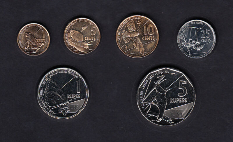 Seychelles Set of 6 Coins - 1 cent to 5 Rupees (2016) UNC