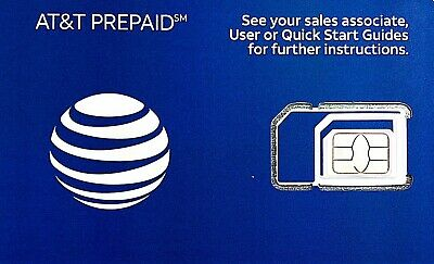 AT&T Prepaid SIM $75 Unlimited Talk/Text/Data+10GB Hotspot [BEST
