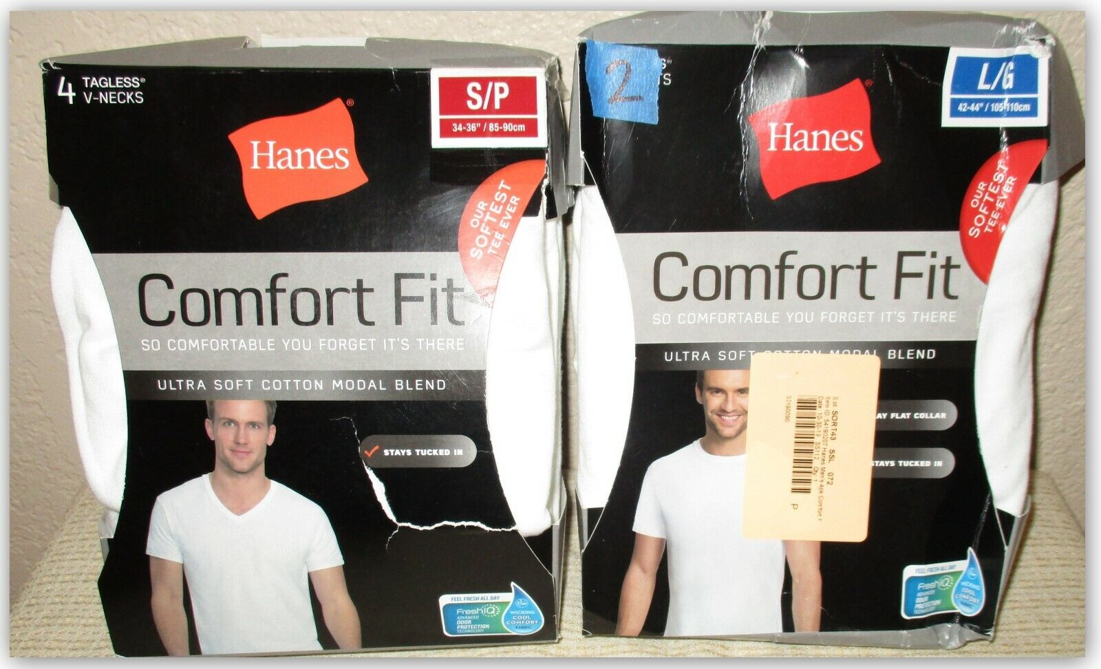 HANES Comfort Fit ultra soft tee shirts white Small  or Larg