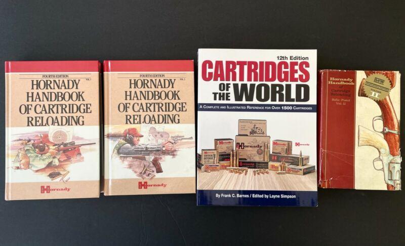 Hornady Handbook of Cartridge Reloading (Vol. 1 & 2) BOOK LOT