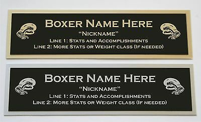 Custom Engraved Boxing Nameplate for your signed glove trunks or display case  Autographed Custom Boxing Trunks