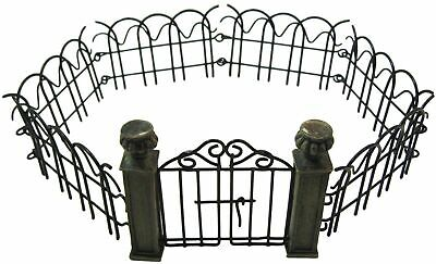 Mini Fairy Garden Pillar Gate and Fence Set Bundle of 2 Accessories for Fairy...