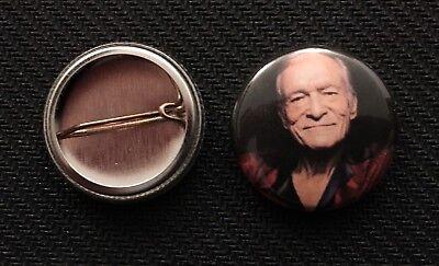 "Playboy Magazine - Hugh Hefner - 1"" Pinback Button Pin"