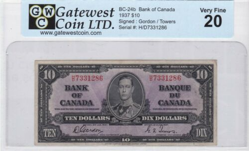 BANK OF CANADA 1937 $10