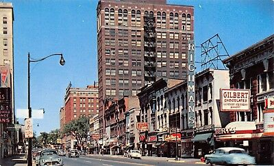Used, Jackson MI~Michigan Avenue~Richman's~ART DECO Gilbert Chocolates~1950s Cars for sale  Shipping to Canada
