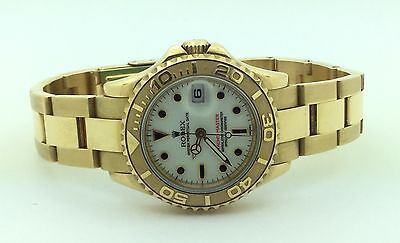 Ladies Rolex Oyster Perpetual 18K Yellow Gold Yacht Master Automatic Watch Box
