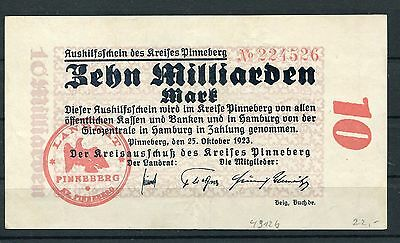 Pinneberg 10 Milliarden Mark Notgeld vom 25.10.1923