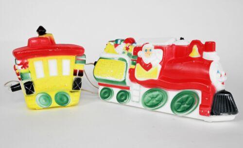 Vintage Empire Lighted Christmas Train Blow Mold Santa Carolina Works Railroad