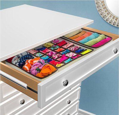 Closet Underwear Organizer Drawer Divider 4 Set for Underwear Bras Socks Ties