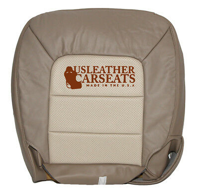 (2003 2004 2005 2006 Ford Expedition Driver Bottom Leather Seat Cover 2 Tone Tan )