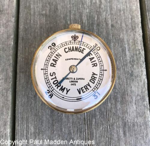 Antique Pocket Barometer with Case - Negretti & Zambra