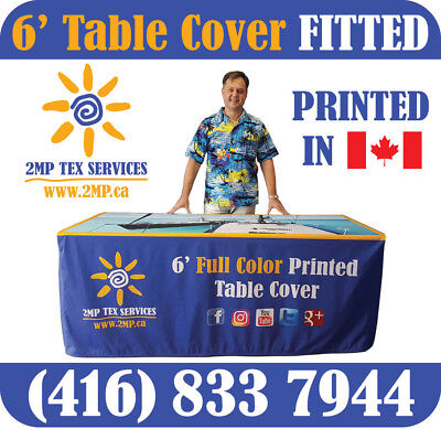 2 Days Production - Custom Printed 6 Table Cover Throw Full Color Trade Show