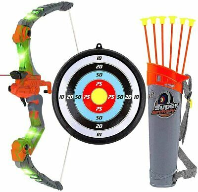 New Kids Bow and Arrow Archery Set with LED - Great Toy for Indoor-Outdoor Game