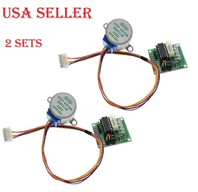 2sets 28byj-48-5v Dc 4-phase Stepper Motor Uln2003 Driver Board For Arduino