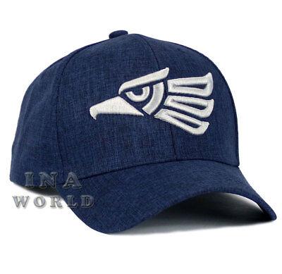 Mexican hat Hecho En Mexico Aguila Eagle Snapback Curved Baseball cap- Navy Blue
