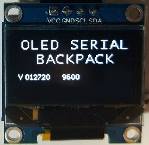 """0.96"""" I2C OLED Display - Serial Backpack Board RS232 Async Interface Driver"""