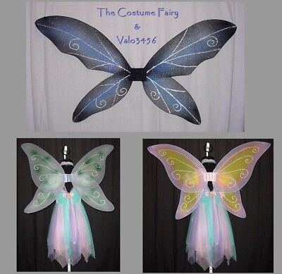 Adult Size Fairy Wings (Gothic Twilight Fairy Wings Halloween Costume Adult)