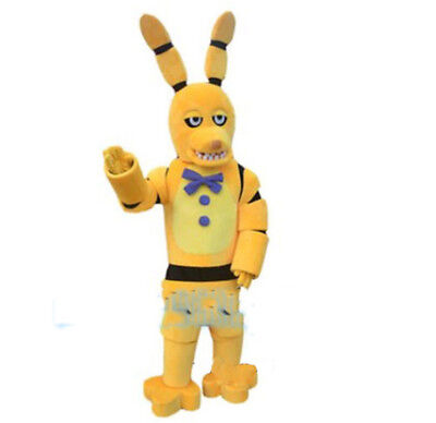 2019 Five Nights At Freddy Cosplay Yellow Toy Bonnie Mascot Costume Party Dress