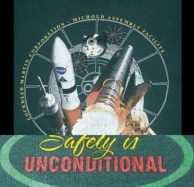 Lockheed Martin Michoud Assembly Facility Employee T Shirt Nasa Safety L Green