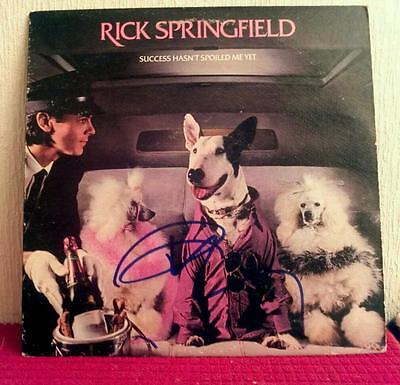 """Rick Springfield signed album """"Success Hasn't Spoiled Me Yet""""/buy don't watch!!"""