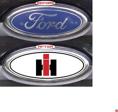 """Ford F250//F350 2000-2007 /""""International/"""" Custom Overlay Logo Emblem Decals REAR"""