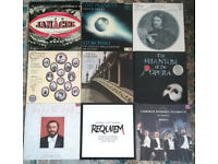 #5 - Pack of 10 vinyl records. Carreras, Domingo, Pavarotti, Elgar, Franck Tallis, and the others