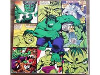 The Incredible Hulk comic strip canvas