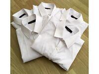 5x NEXT LONG SLEEVE WHITE SCHOOL SHIRTS AGE 11YRS (LIKE NEW)