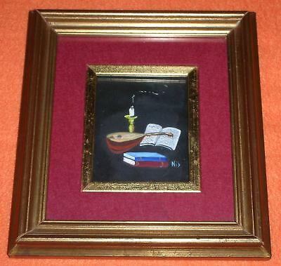 Musikinstrument Komposition Venedig Miniatur Gemälde Nino Brunello  ()