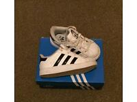 Adidas Superstars infant trainers size 6