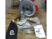 Compound Mitre Saw by Performance Power. 1400w & 210mm Blade. 50mm depth of cut. New.