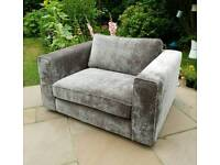 Cuddle Chair Grey BRAND NEW Armchair Snuggler for 2 RRP 700 Living Room Furniture