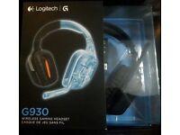 logitech g930 wireless gaming headset gamer pc headphones surround sound G mic